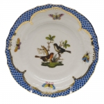 Rothschild Bird Blue Border Bread and Butter Plate, Motif #5