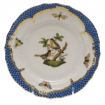 Rothschild Bird Blue Border Bread and Butter Plate, Motif #8