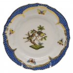 Rothschild Bird Blue Border Bread and Butter Plate, Motif #11