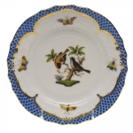 Rothschild Bird Blue Border Bread and Butter Plate, Motif #12