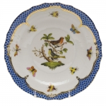 Rothschild Bird Blue Border Salad Plate, Motif #3