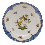 Rothschild Bird Blue Border Salad Plate, Motif #6
