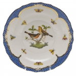 Rothschild Bird Blue Border Salad Plate, Motif #9