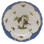 Rothschild Bird Blue Border Salad Plate, Motif #12