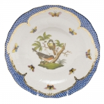 Rothschild Bird Blue Border Dessert Plate, Motif #2
