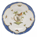 Rothschild Bird Blue Border Dessert Plate, Motif #3