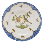 Rothschild Bird Blue Border Dessert Plate, Motif #7
