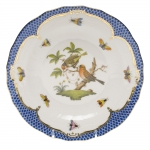 Rothschild Bird Blue Border Dessert Plate, Motif #10