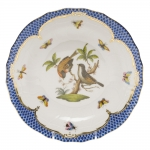 Rothschild Bird Blue Border Dessert Plate, Motif #12