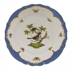 Rothschild Bird Blue Border Dinner Plate, Motif #1