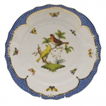 Rothschild Bird Blue Border Dinner Plate, Motif #6
