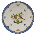 Rothschild Bird Blue Border Dinner Plate, Motif #7