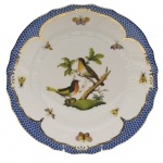 Rothschild Bird Blue Border Dinner Plate, Motif #8
