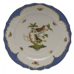 Rothschild Bird Blue Border Service Plate, Motif #3