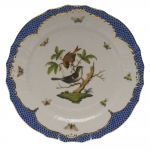 Rothschild Bird Blue Border Service Plate, Motif #4