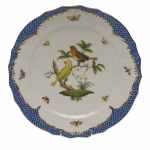 Rothschild Bird Blue Border Service Plate, Motif #6