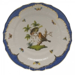 Rothschild Bird Blue Border Service Plate, Motif #10