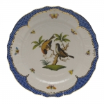 Rothschild Bird Blue Border Service Plate, Motif #12