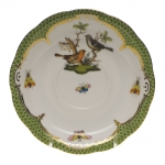 Rothschild Bird Green Border Tea Cup Saucer - Motif #5