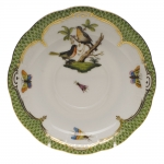 Rothschild Bird Green Border Tea Cup Saucer - Motif #8