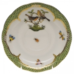 Rothschild Bird Green Border Tea Cup Saucer - Motif #9