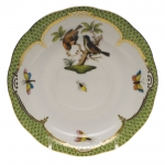 Rothschild Bird Green Border Tea Cup Saucer - Motif #12