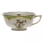 Rothschild Bird Green Border Tea Cup - Motif #3