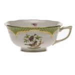 Rothschild Bird Green Border Tea Cup - Motif #4