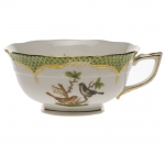 Rothschild Bird Green Border Tea Cup - Motif #5