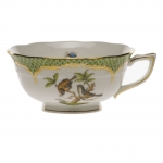 Rothschild Bird Green Border Tea Cup - Motif #12