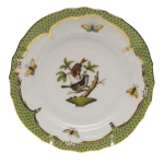 Rothschild Bird Green Border Bread and Butter Plate - Motif #4