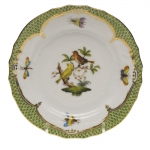 Rothschild Bird Green Border Bread and Butter Plate - Motif #6
