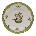Rothschild Bird Green Border Bread and Butter Plate - Motif #8