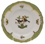 Rothschild Bird Green Border Bread and Butter Plate - Motif #9