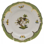 Rothschild Bird Green Border Bread and Butter Plate - Motif #11