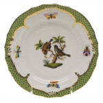 Rothschild Bird Green Border Bread and Butter Plate - Motif #12