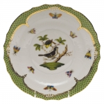 Rothschild Bird Green Border Salad Plate, Motif #1
