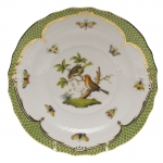Rothschild Bird Green Border Salad Plate - Motif #10