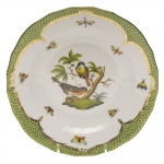 Rothschild Bird Green Border Dessert Plate, Motif #2