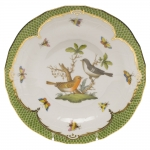 Rothschild Bird Green Border Dessert Plate - Motif #5