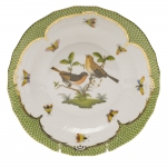 Rothschild Bird Green Border Dessert Plate - Motif #9