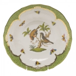 Rothschild Bird Green Border Dessert Plate - Motif #12