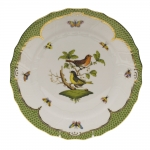 Rothschild Bird Green Border Dinner Plate - Motif #3
