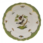 Rothschild Bird Green Border Dinner Plate - Motif #4