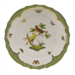 Rothschild Bird Green Border Dinner Plate - Motif #6