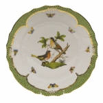 Rothschild Bird Green Border Dinner Plate - Motif #8