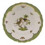 Rothschild Bird Green Border Dinner Plate - Motif #11