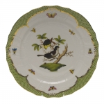 Rothschild Bird Green Border Service Plate - Motif #1