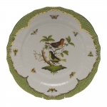 Rothschild Bird Green Border Service Plate - Motif #3
