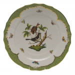 Rothschild Bird Green Border Service Plate - Motif #4